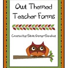 Owl Themed Teacher Forms