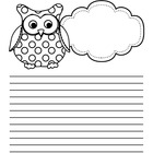 Owl Themed Writing Paper - FREE