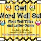Owl Word Wall Set