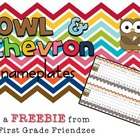 Owl and Chevron Nameplates for Desks