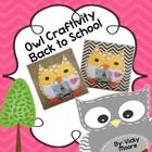 Owl craftivity { Back to School }