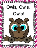 Owl literacy unit and activities