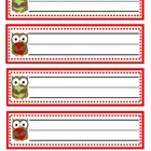 Owl/Apple Name Plates