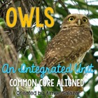 Owls - an Integrated Unit {Common Core Aligned}