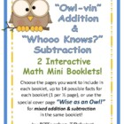 Owlvin Addition & Subtraction Math Booklets