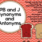 PB and J Synonyms and Antonyms