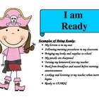 PBIS Pirate Rules with Example Behaviors