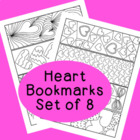 PDF Printable Heart Bookmarks Valentines Day Activity