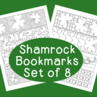 PDF Printable Shamrock Bookmarks St. Patrick's Day Colorin