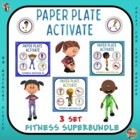 "PE  Activities:  ""What's on Your Plate""- Fitness Bundle"