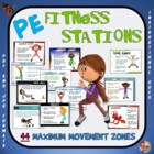 "PE Fitness Stations - 44 ""Maximum Movement"" Zones"