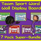 PE Word Wall Displays- 6 Pack Super Bundle