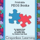 PECS - Printable Books (4) Colors, Shapes, Numbers, Alphab