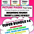 PICTURE PAGES Phonics Program SUPER BUNDLE #4 Year Long Fi