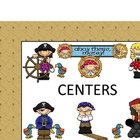 PIRATE CLASSROOM CENTER LABELS