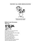 POETRY ALL KIDS SHOULD KNOW!