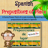 PREPOSITIONS OF PLACE: Spanish Powerpoint Presentation