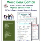 PS1-Physical Science Word Bank Edition Guides Part 1 for B