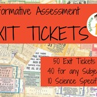Pack of 50 Exit Tickets