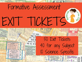 Pack of 50 Exit Tickets (Formative Assessment)