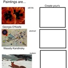 Paintings are...(3 pages, includes Teachers Guide)