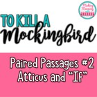 Paired Passages with To Kill a Mockingbird - 2