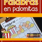 Palabras en Palomitas-Spanish Popcorn Words Graphing
