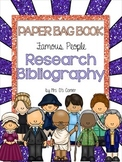 Paper Bag Book Research Bibliography - Famous People