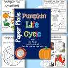 Paper Plate Pumpkin Life Cycle