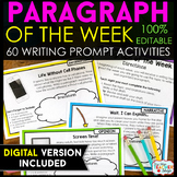 Paragraph of the Week: ENTIRE YEAR } Writing Homework, Lit