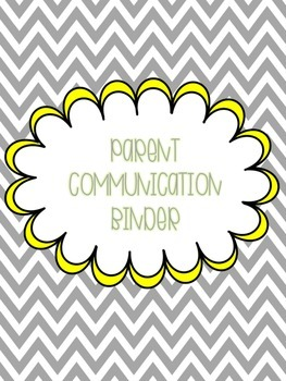 Free Parent Communication Binder Forms Slate Gray