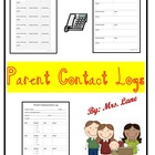 Parent Contact Log (For Teachers)