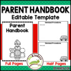 Parent Handbook - Editable