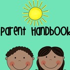 Parent Handbook For Beginning of the Year