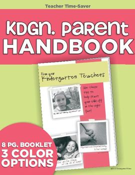 Parent Handbook (Welcome to Kindergarten)