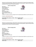 Parent Scavenger Hunt for open house or first day of school