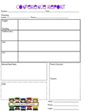 Parent Teacher Conference Report Form