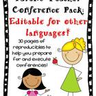 Parent Teacher Conference Resource Pack--ESL Editable Version!