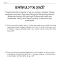 Parenting Situations Preschool Age Worksheet for FCS Child