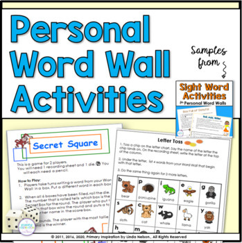 Partner Games for Your Class Word Wall