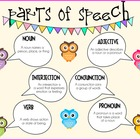 Parts Of Speech Poster {Owl Themed}