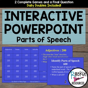 Parts of Speech Jeopardy