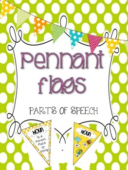 Parts of Speech {Pennant Banners} Posters!