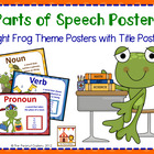 Parts of Speech Posters (Frog Theme)