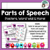 Parts of Speech Posters, Word Wall Strips & More (Monster Theme)