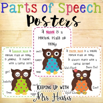 Parts of Speech - owl theme