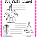 Party Time Labeling Activity