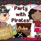 Party with Pirates Literacy and Math Centers for Kinder