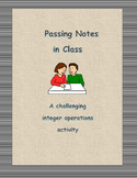 Passing Notes (Integer Operations)