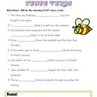Past vs. Present Tense Irregular Verb Quiz